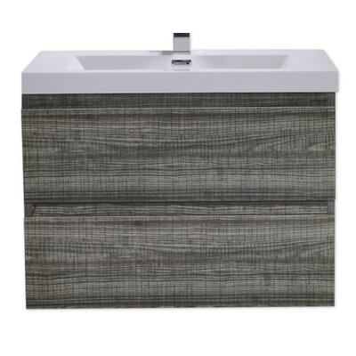 MOB 29 Single Bathroom Vanity Set Base Finish: High Gloss Ash Gray