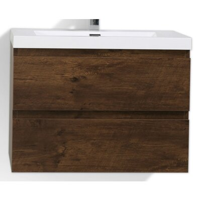 MOB 29 Single Bathroom Vanity Set Base Finish: Rosewood