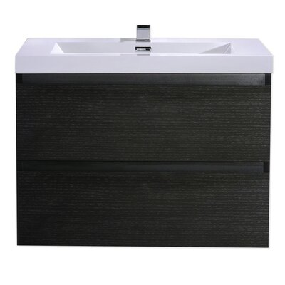 MOB 29 Single Bathroom Vanity Set Base Finish: Black