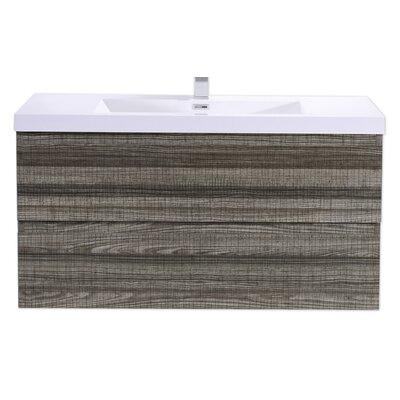 Mob 42 Single Bathroom Vanity Set Base Finish: High Gloss Ash Gray