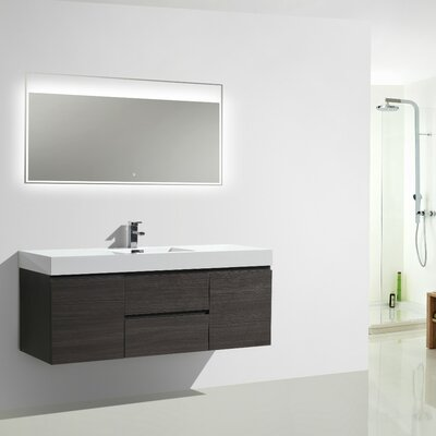 MOF 60 Single Bathroom Vanity Set Base Finish: Dark Gray Oak