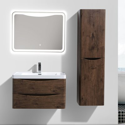Smile 31 Single Bathroom Vanity Set Base Finish: Rosewood