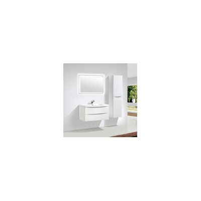 Smile 35 Single Bathroom Vanity Set Base Finish: High Gloss White