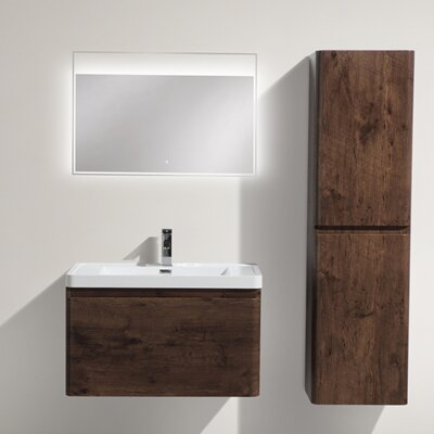 Happy 31 Single Bathroom Vanity Set Base Finish: Rosewood