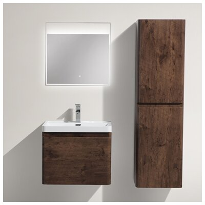 Happy 24 Single Bathroom Vanity Set Base Finish: Rosewood