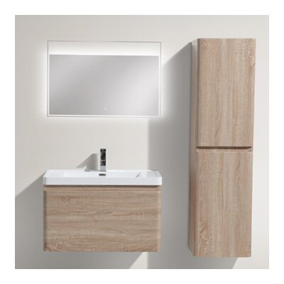 Happy 31 Single Bathroom Vanity Set Base Finish: White Oak