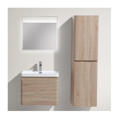 Happy 24 Single Bathroom Vanity Set Base Finish: White Oak