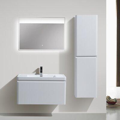 Happy 35 Single Bathroom Vanity Set Base Finish: High Gloss White