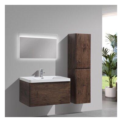 Happy 35 Single Bathroom Vanity Set Base Finish: Rosewood