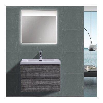 MOB 29 Single Bathroom Vanity Set Base Finish: High Gloss Ash Gray