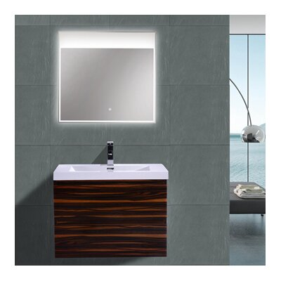 MOB 29 Single Bathroom Vanity Set Base Finish: High Gloss Rose Walnut