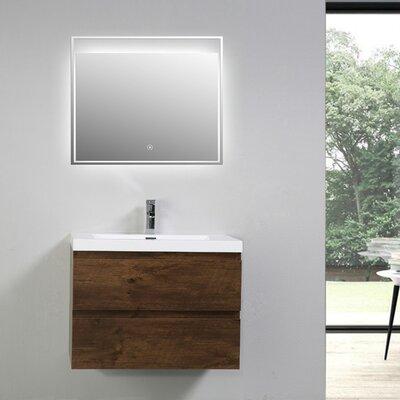 MOB 29 Single Bathroom Vanity Set Base Finish: Rosewood