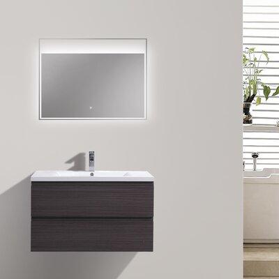 MOB 29 Single Bathroom Vanity Set Base Finish: Dark Gray Oak