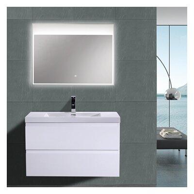 MOB 36 Single Bathroom Vanity Set Base Finish: High Gloss White