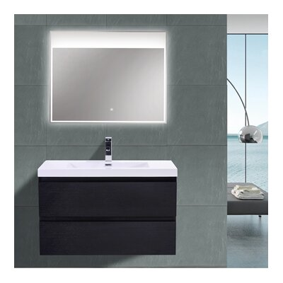MOB 36 Single Bathroom Vanity Set Base Finish: Black