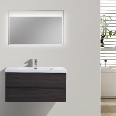 MOB 42 Single Bathroom Vanity Set Base Finish: Dark Gray Oak
