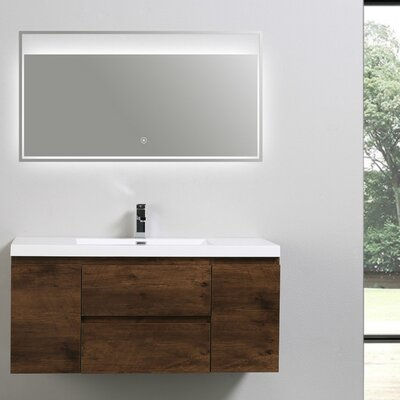 MOB 47 Single Bathroom Vanity Set Base Finish: Rosewood