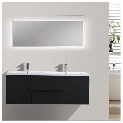 MOB 59 Double Bathroom Vanity Set Base Finish: Black