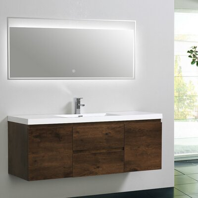 MOB 59 Single Bathroom Vanity Set Base Finish: Rosewood