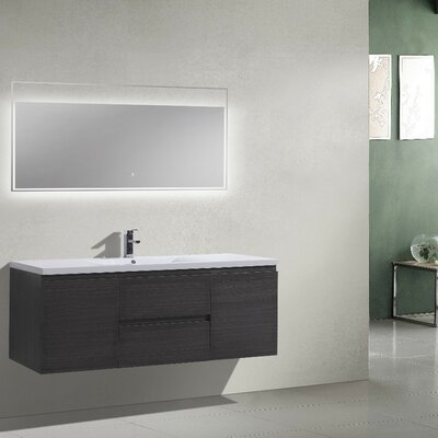 MOB 59 Single Bathroom Vanity Set Base Finish: Dark Gray Oak