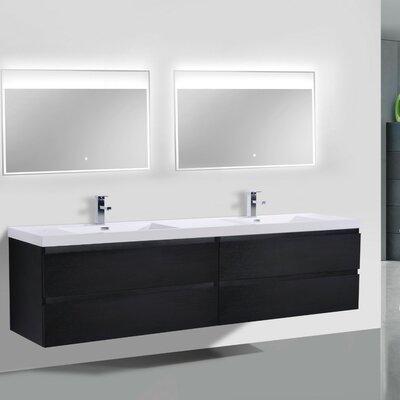 MOB 71 Double Bathroom Vanity Set Base Finish: Dark Gray Oak