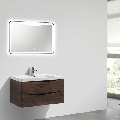 Ruelas 35 Single Bathroom Vanity Set Base Finish: Rosewood