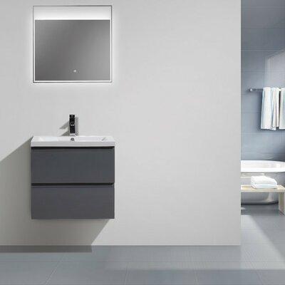 MOB 24 Single Bathroom Vanity Set Base Finish: High Gloss Gray
