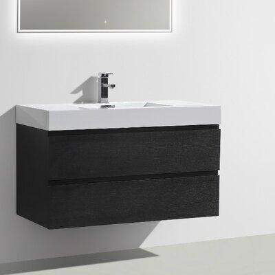 MOF 39 Single Bathroom Vanity Set Base Finish: Black