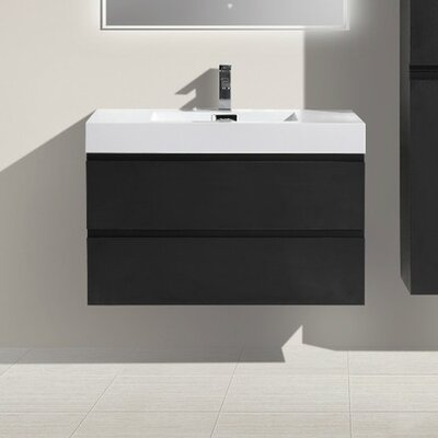 MOF 36 Single Bathroom Vanity Set Base Finish: Black