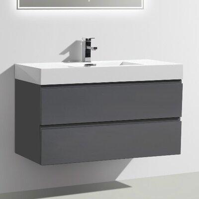MOF 39 Single Bathroom Vanity Set Base Finish: High Gloss Gray