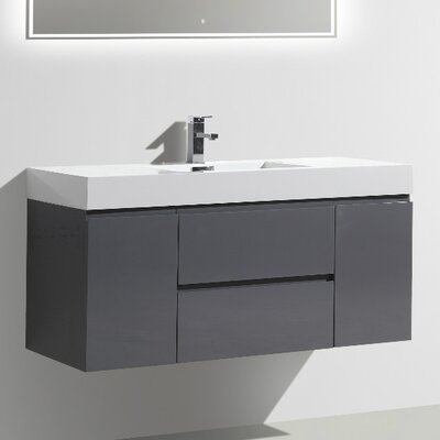 MOF 47 Single Bathroom Vanity Set Base Finish: High Gloss Gray