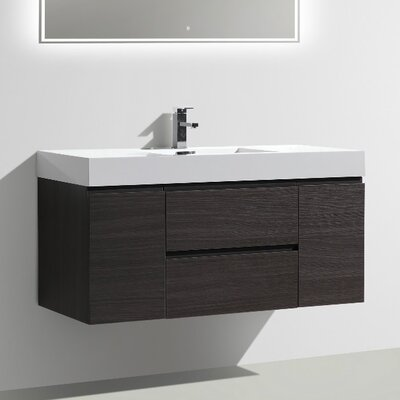 MOF 47 Single Bathroom Vanity Set Base Finish: Dark Gray Oak