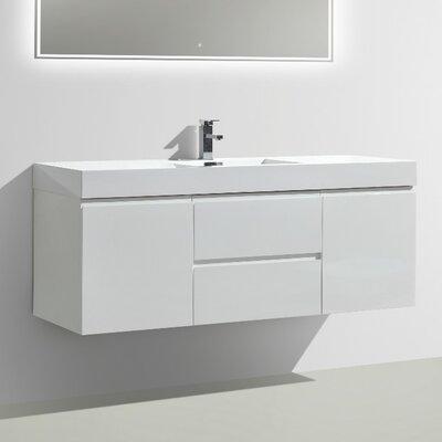 MOF 60 Single Bathroom Vanity Set Base Finish: High Gloss White