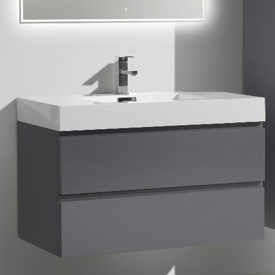 MOF 36 Single Bathroom Vanity Set Base Finish: High Gloss Gray