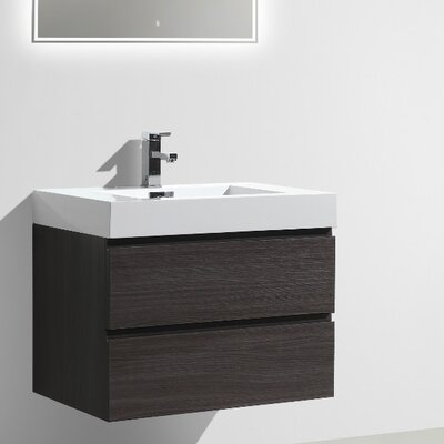 MOF 30 Single Bathroom Vanity Set Base Finish: Dark Gray Oak