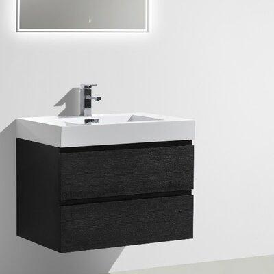 MOF 30 Single Bathroom Vanity Set Base Finish: Black