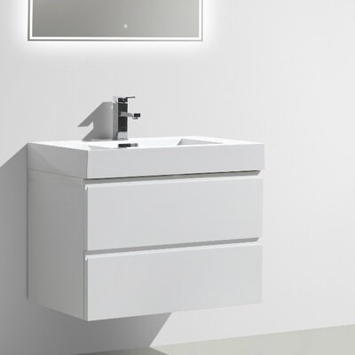 MOF 29 Single Bathroom Vanity Set Base Finish: High Gloss White