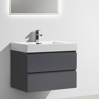 MOF 29 Single Bathroom Vanity Set Base Finish: High Gloss Gray