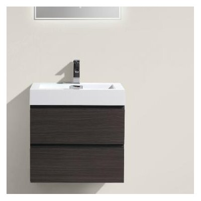 MOF 24 Single Bathroom Vanity Set Base Finish: Dark Gray Oak