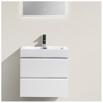 MOF 24 Single Bathroom Vanity Set Base Finish: High Gloss White