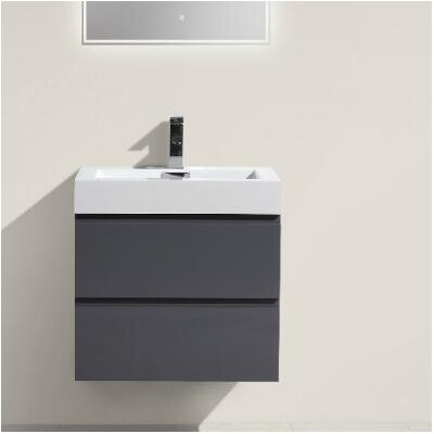 MOF 24 Single Bathroom Vanity Set Base Finish: High Gloss Gray