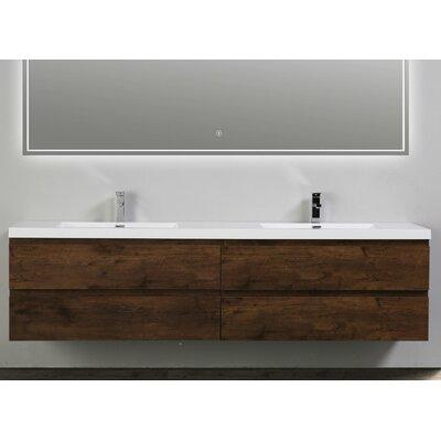 MOB 84 Double Bathroom Vanity Set Base Finish: Rosewood