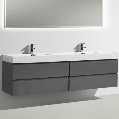 MOF 79 Double Bathroom Vanity Set Base Finish: High Gloss Gray