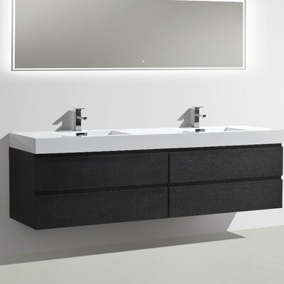 MOF 79 Double Bathroom Vanity Set Base Finish: Black