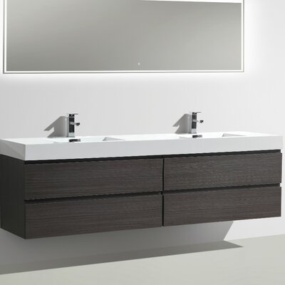 MOF 79 Double Bathroom Vanity Set Base Finish: Dark Gray Oak