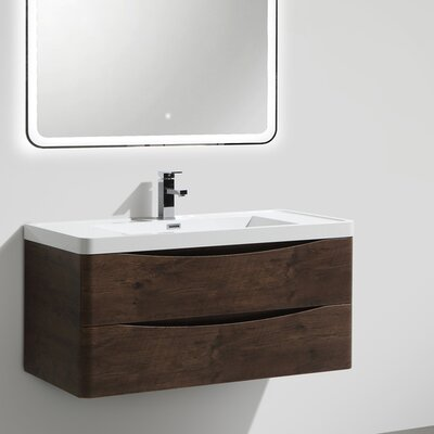 Ruelas 39 Single Bathroom Vanity Set Base Finish: Rosewood