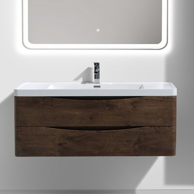 Smile 47 Single Bathroom Vanity Set Base Finish: Rosewood