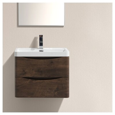 Smile 24 Single Bathroom Vanity Set Base Finish: Rosewood