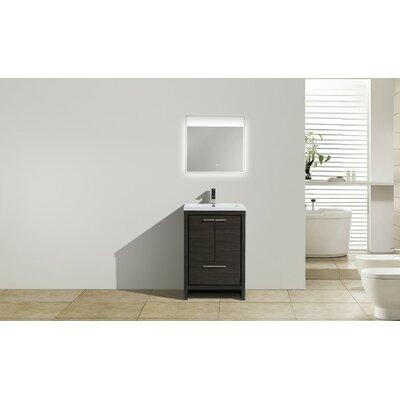 Melillo 23.5 Free Standing Modern Bathroom Vanity Base Finish: Dary Grey Oak