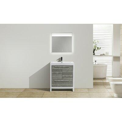 Melillo 29.5 Single Bathroom Vanity Base Finish: High Gloss Ash Gray